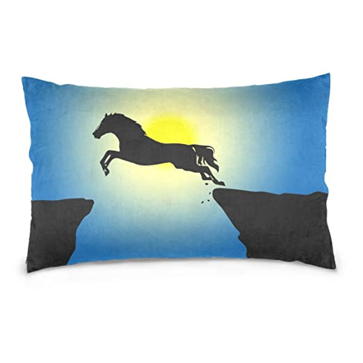 LORONA Silhouette Sol Sky Horse Jump Funda de Almohada de ...