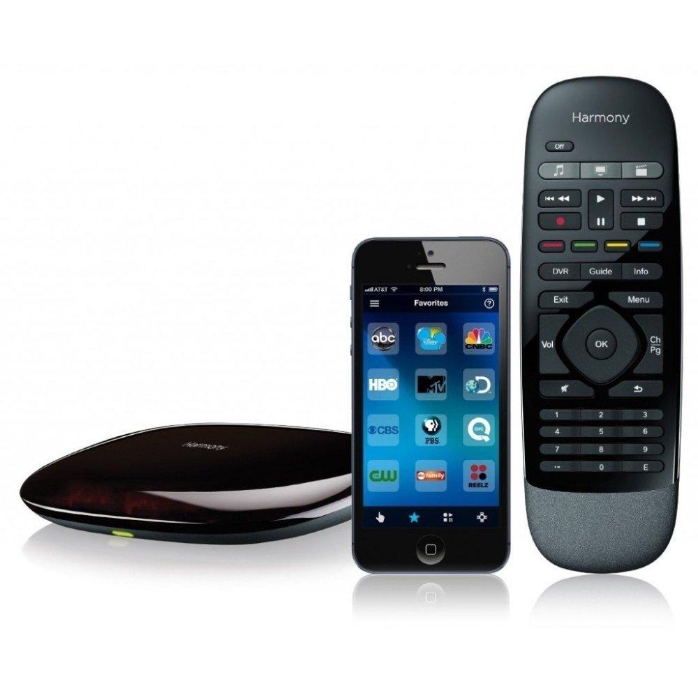 Logitech 915-000194 - Harmony Smart Remote Control with Smartphone App - Black (Renewed)