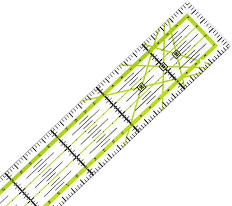 Herramienta de costura de bricolaje para acolchar Regla de retazo Regla de costura 5 30 CM Color:colourful