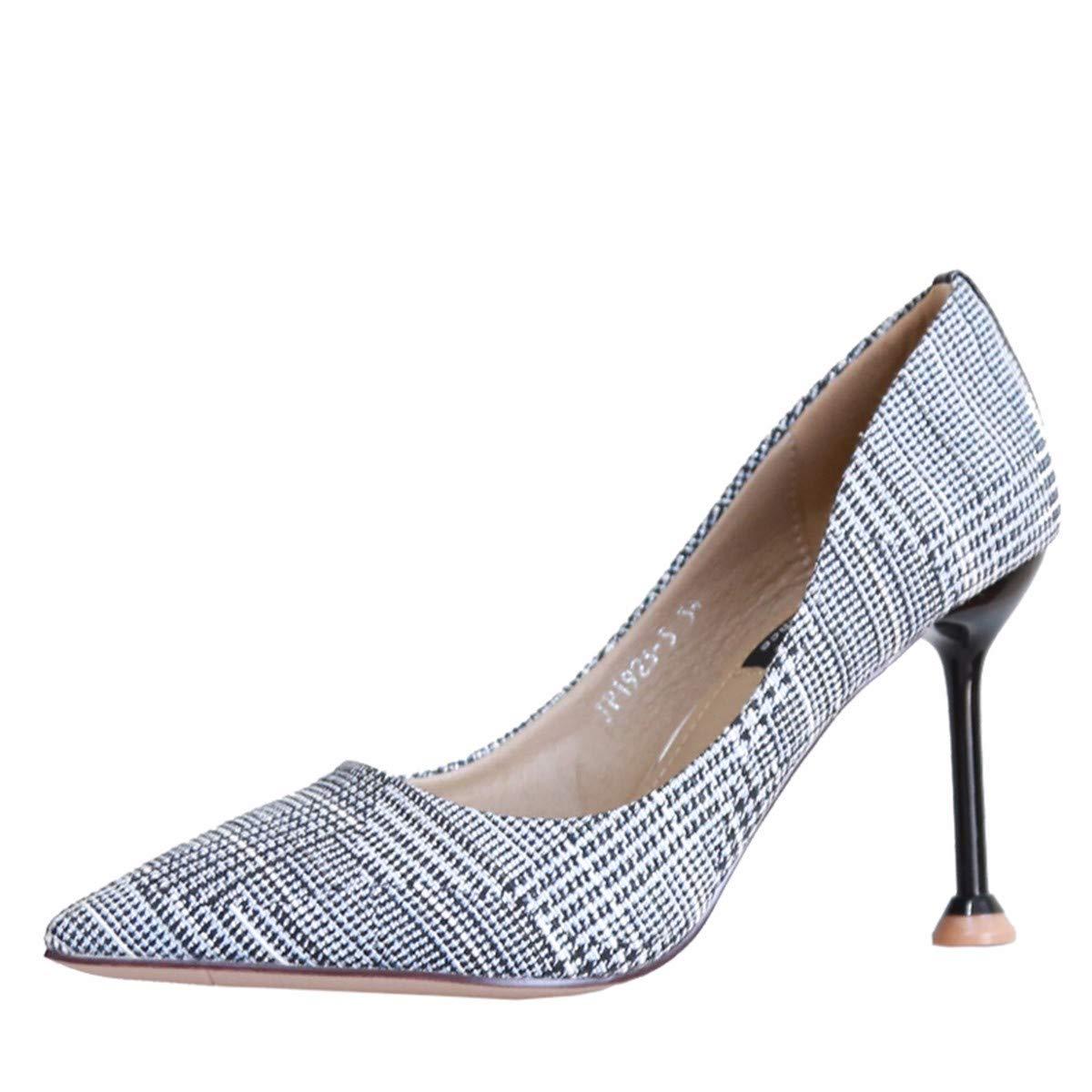 KPHY Damenschuhe/Herbst Dünn und Dünner Dünne Frauen Schuhe Sagte 18Cm Hohe Schuhe Mode Farben Flache Schuhe Einfache Schuhe.35 grau