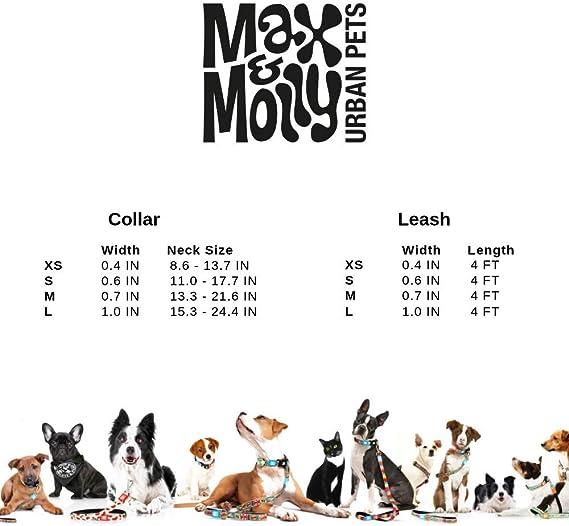 Max /& Molly Urban Collar Collier pour chien Diff/érentes tailles et Designs