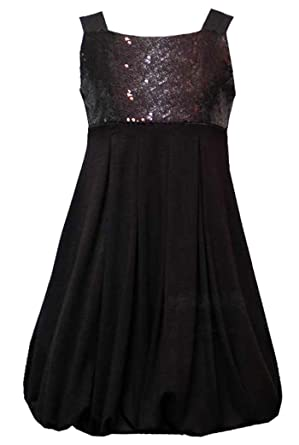 7a4516c06121 Rare Editions Size-10 RRE-18918H BLACK SEQUIN BABYDOLL BUBBLE SKIRT Special  Occasion Flower