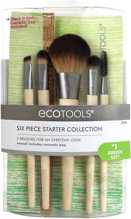 Ecotools Brush Set de 5 Brochas y Neceser - 1 Pack: Amazon.es: Belleza