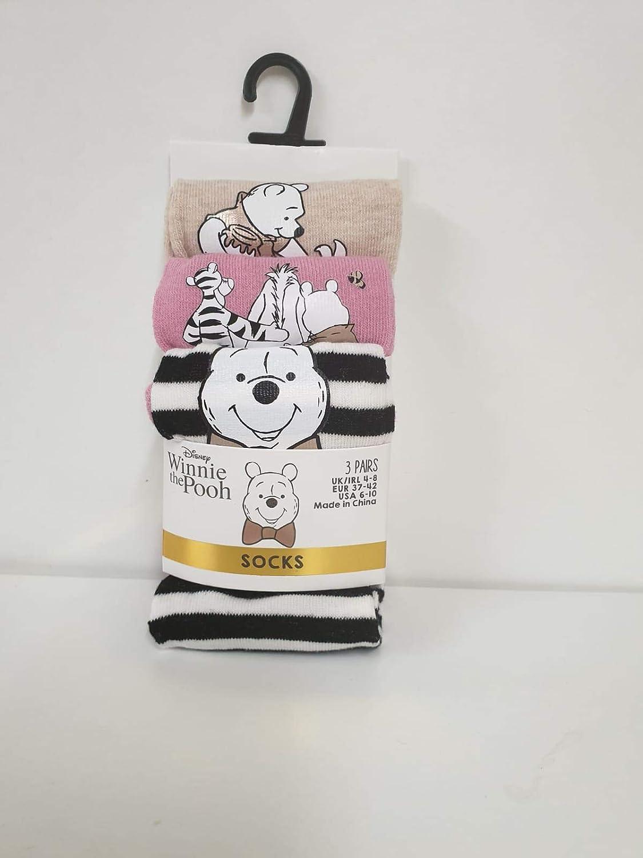 Disney Winnie The Pooh 3 paia di fodere per scarpe e calzini alla caviglia da donna