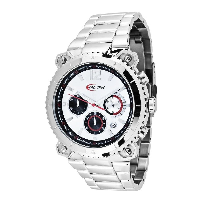 Creactive Herren-Armbanduhr Chronograph Quarz Analog Edelstahl - CA120107
