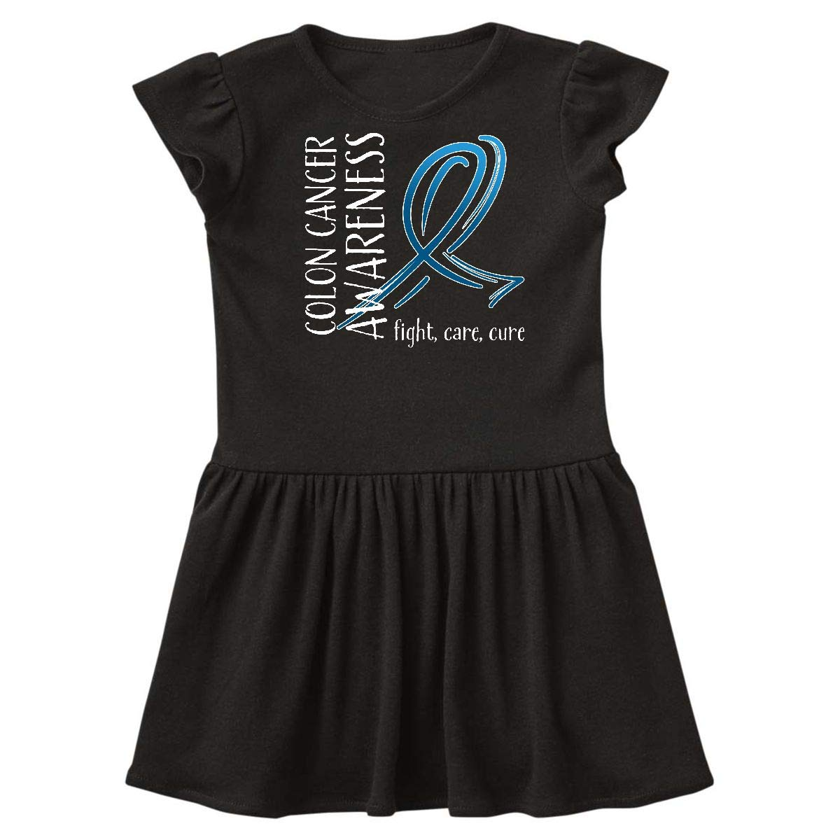 Amazon Com Inktastic Colon Cancer Awareness Fight Care Cure Toddler Dress Clothing