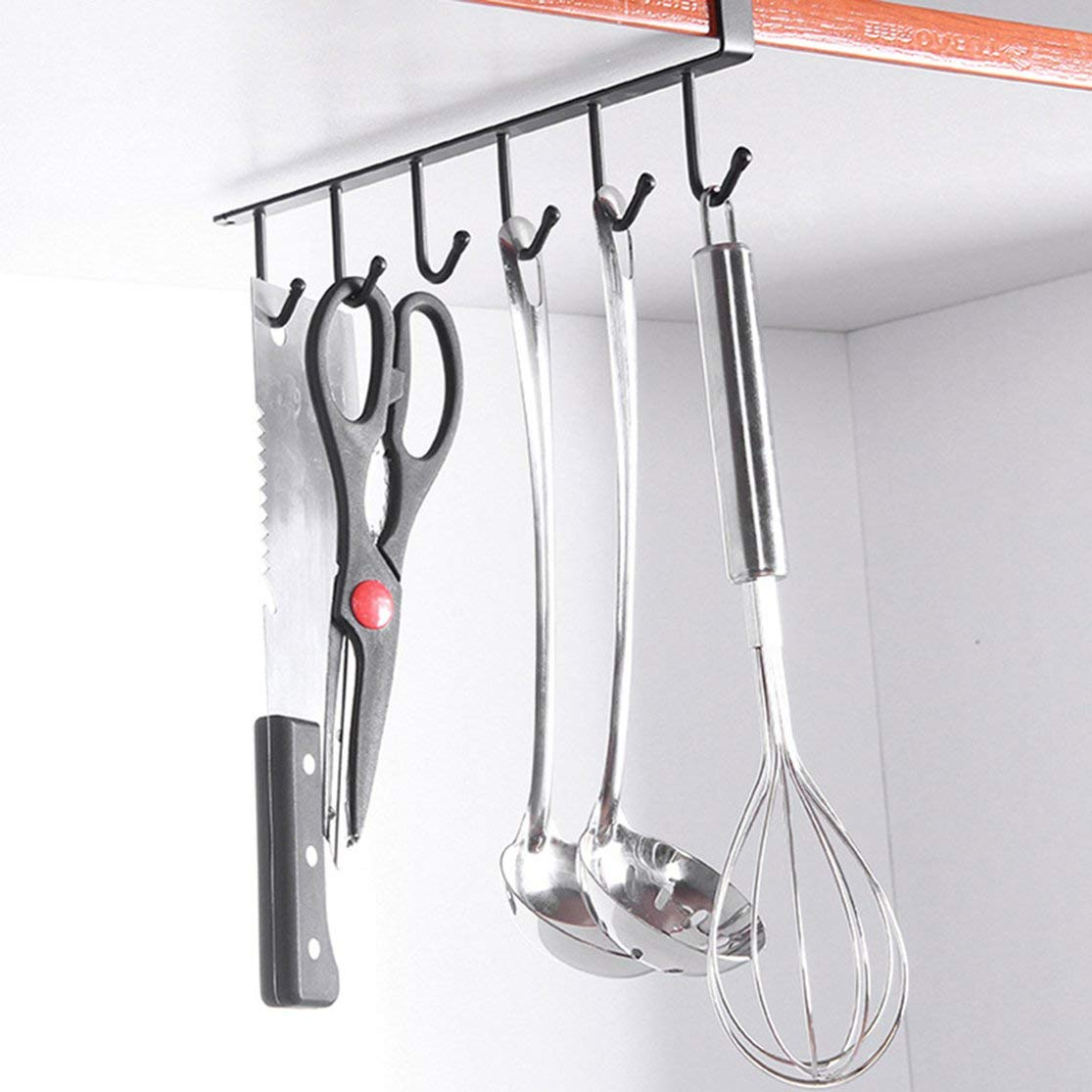 LouiseEvel215 European Cabinet Compartment 6 Connection Hook Hanger for Kitchen Bathroom