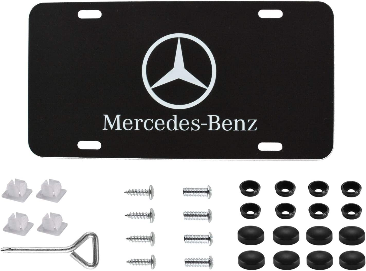 Infiniti Logo Stainless Steel 3-D License Plate,with Screw Caps Cover Set Suit,Applicable to US Standard car License Frame for Infiniti. Infiniti