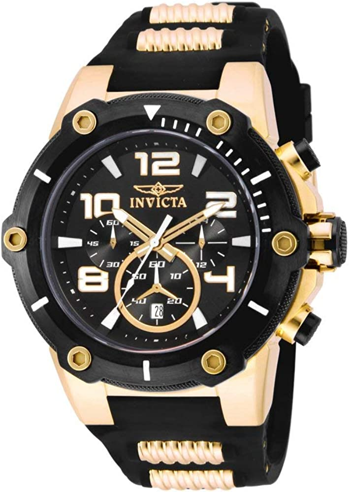Invicta Men s 17200 Speedway Analog Display Japanese Quartz Black Watch