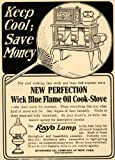 1907 Ad Rayo Lamp Wick Blue Flame Oil Cook-Stove