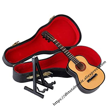 Amazon.com: Ochoos Dh Mini Guitarra Modelo Miniatura ...