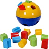 CifToys Educational Shape Sorter Ball Kids Toys | Develop Fine Motor Skills, Have Fun, Learn About Shapes & Colors (Blue-Yellow)