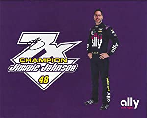 AUTOGRAPHED 2019 Jimmie Johnson #48 Ally Racing 7X CHAMPION (New Sponsor) Hendrick Motorsports Monster Cup Series Signed Collectible Picture 8X10 Inch NASCAR Hero Card Photo with COA