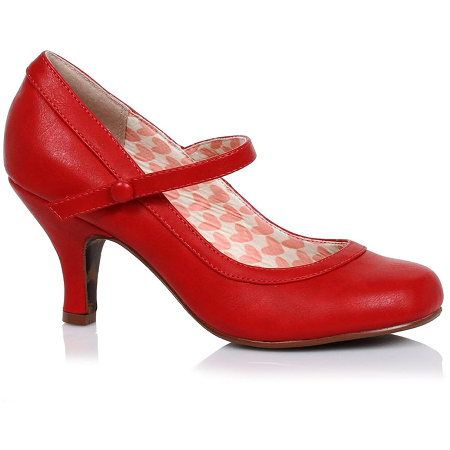 Amazon.com | Women's Bettie Page Shoes Bettie Retro Mary Jane Heel ...