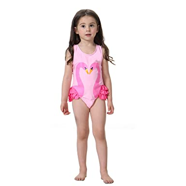 d0643c94fb91a Meteora Girls Swimwear Cute Kids Swimsuit With Swimming Cap Swan Flamingo  Baby Girl Bathing Suit Swimwear