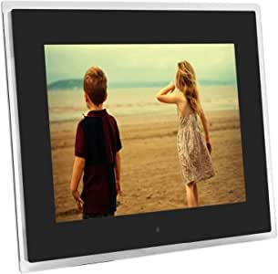 HUALEIYUAN AU 15 Inches Multi-Function TFT LCD Digital Photo Frame Electronic Picture Frame with MP3 MP4 Player Remote Control Digital Frame (Color : White)