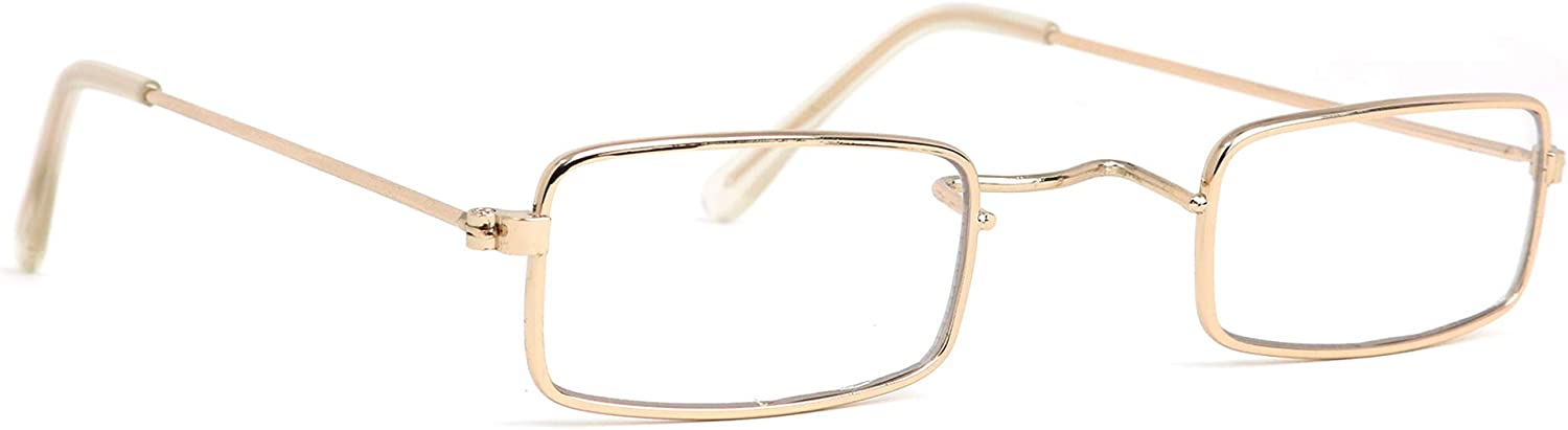 Amazon.com: Skeleteen Old Man Costume Glasses - Rectangular Granny Dress Up  Eyeglasses - 1 Pair: Toys & Games