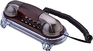 Wendry Wall Mounted Telephone, Fashion Wall Hanging Corded Phone with Ringtones Adjustment Tone Dialing Suitable for Home, Hotel, School and Office