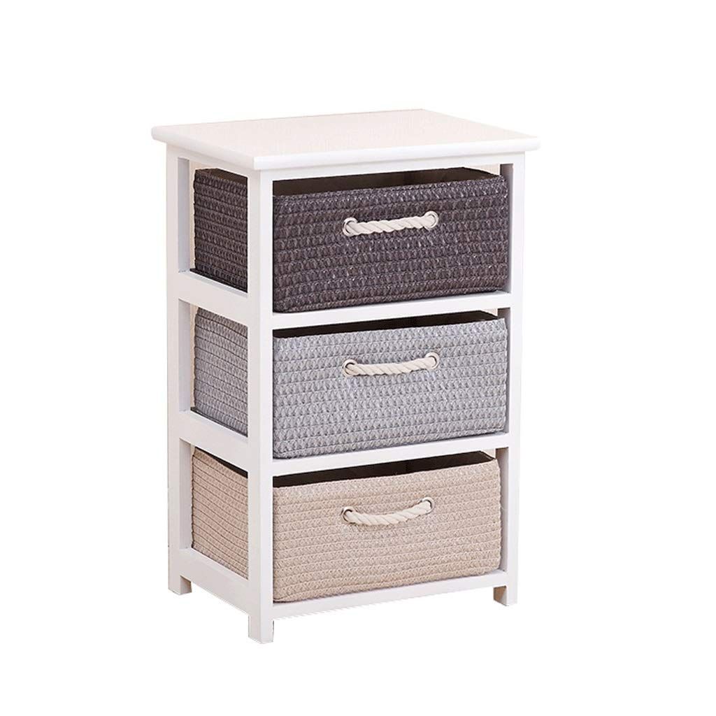Preparation of Storage Cabinet Solid Wood Cabinet Drawer Type Multi-Layer Finishing Narrow Cabinet Bedroom Locker (Color : A)
