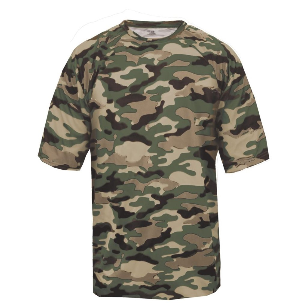 Badger Sport Youth Camouflage Tee (Medium, OD Green Camo) by Badger Sport