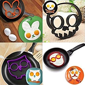 Amazon.com: 4 pack, SKULL, OWL, RABBIT and the GUY Shaped Silicone ...