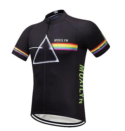 d944413f4 KIKIYA Mens Cycling Jerseys Quick Dry Short Sleeve Cycle Tops Mountain Bike  MTB Shirt Reflective Biking