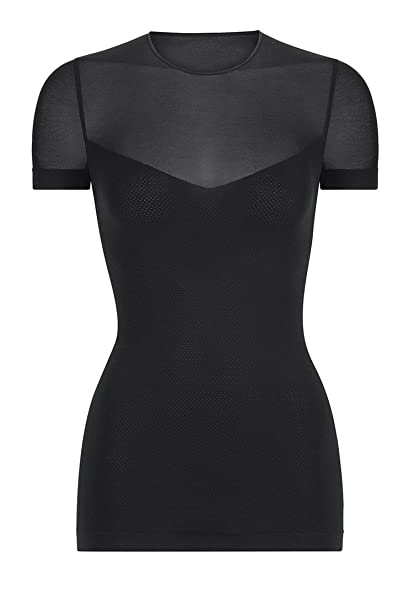 56f123c510 Wolford Op. Transparent Nature Shirt - Mujer Negro