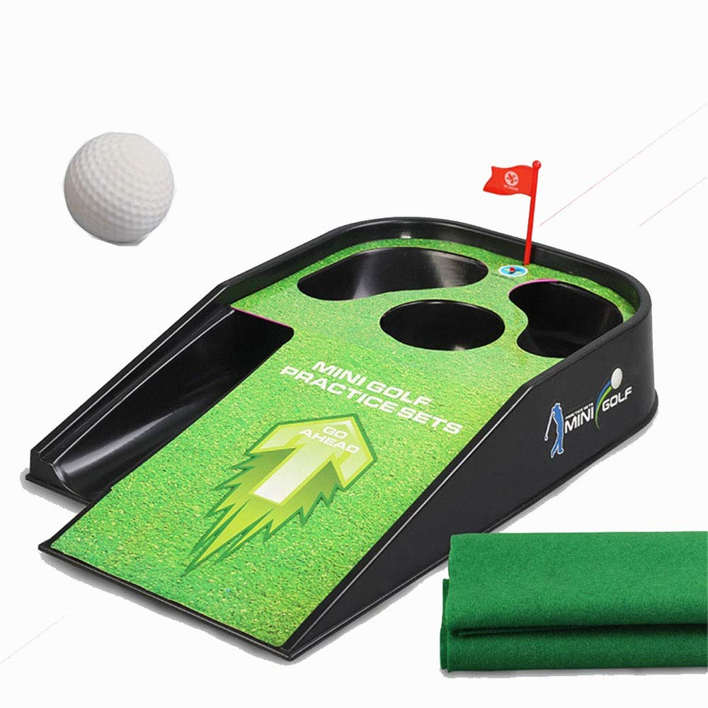 Golf Toys Set Kids Golf Set - Putting Mat Mini Golf for Children 1 Golf Club 1 Golf Ball Golf Green Indoor and Outdoor Outdoor Indoor Exercise Toy (Color, Size : One Size) by JIANGXIUQIN-Toy