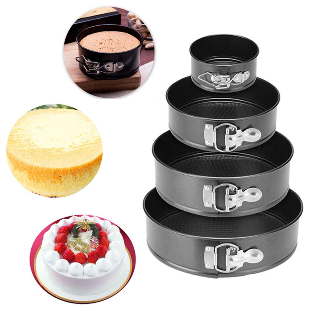ACOMG Cheesecake Pan with Removable Bottom,Springform Cake Tin,Nonstick and Leakproof,Multi-Size Combination Purchase is More Practical,Four