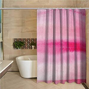 Peach Precision Custom Shower Curtain Hand Drawn Watercolor Brush Strokes Artsy Pattern Wet Paint Style Romantic Image Modern Bathroom Decoration W78 x L70 Inch Pink Hot Pink