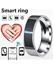 NFC Smart Finger Digital Ring Wear Connect Android Phone Equipment Rings Fashion (Black,7)