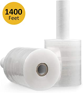 "Mini Wrap 80 Gauge 5/"" x1000/' 2 ROLLS WITH FREE PLASTIC HANDLE"