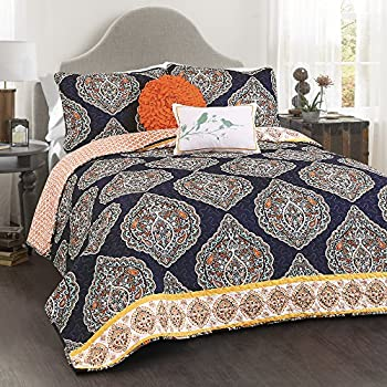 Amazon Com Lush Decor Adrianne 3 Piece Quilt Set King