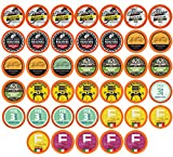 Two Rivers Light Roast Variety Pack Coffee Pods, Compatible with 2.0 Keurig K-Cup Brewers, 40 Count
