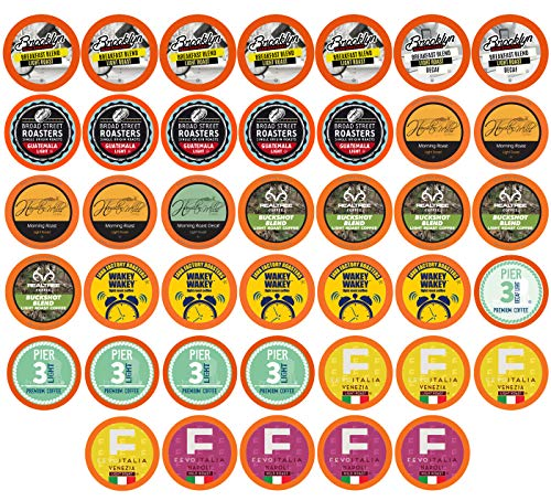 (Two Rivers Light Roast Coffee Pods, Compatible with 2.0 Keurig K-Cup Brewers, Variety Pack, 40)