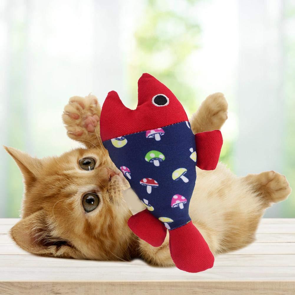 Simulati Pesce Cuccioli e Adulti per Gatti kingpo Catnip per Gatti Chew Giochi interattivi Gattino Mint Giocattoli Pulizia dei Denti con Peluche ripiene