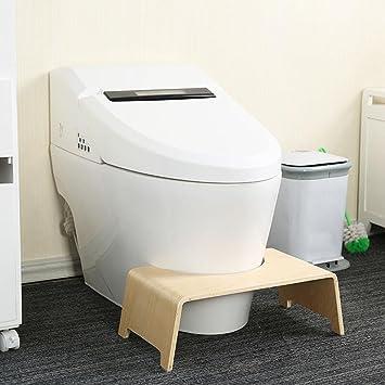 Todaytop Badezimmer Bank WC-Hocker Holz Toilettenhocker Anti-Rutsch ...