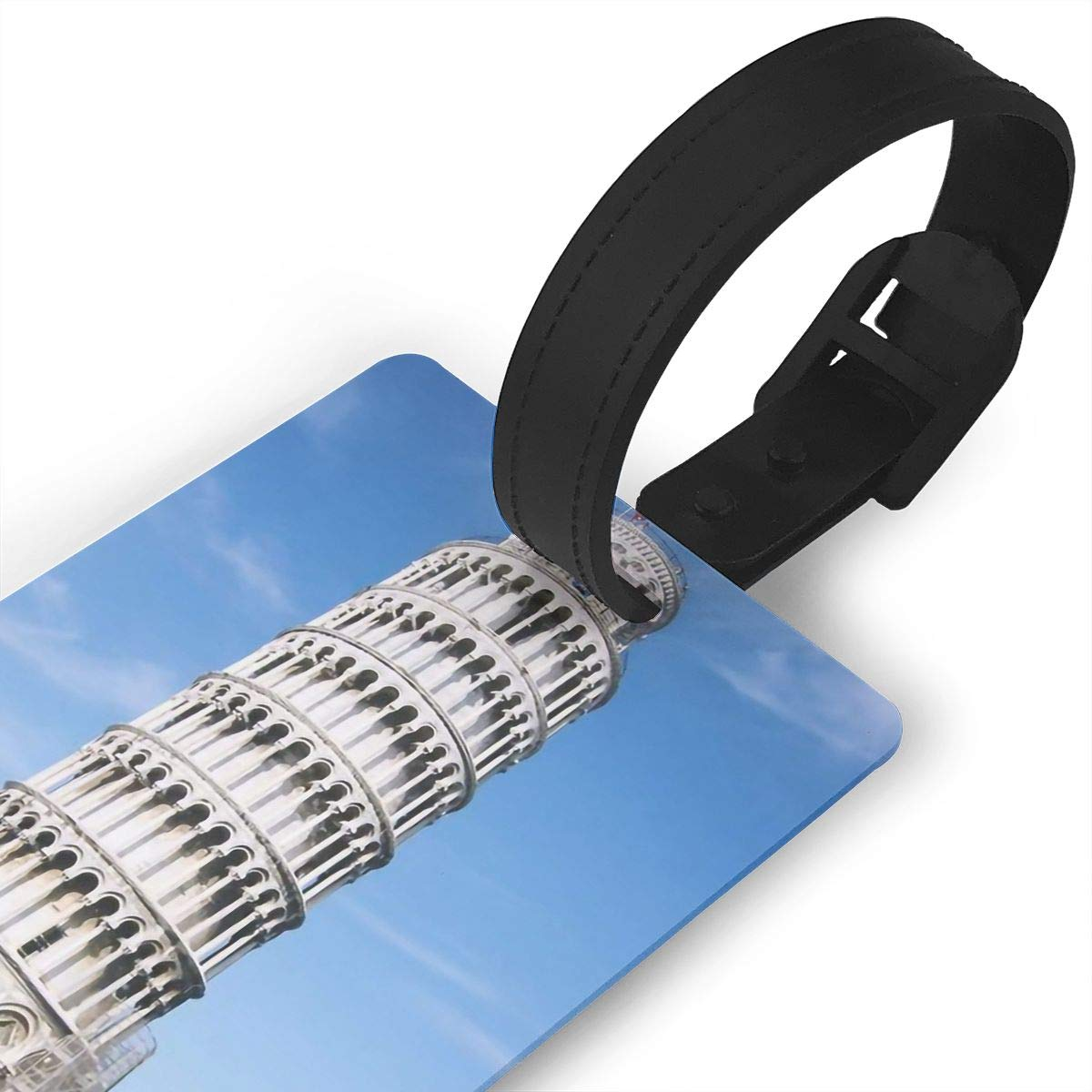 2 Pack Luggage Tags Leaning Tower Of Pisa Handbag Tag For Travel Bag Suitcase Accessories