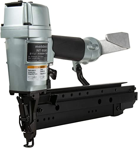 Metabo HPT Finish Nailer, 16-Gauge, Pneumatic, Accepts 1-1 2 to 2-1 2 Straight Finish Nails, High Grade Aluminum and Steel Magazine, NT65A5