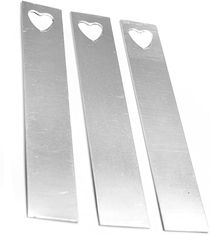 NinjaCrafters Twenty-Five Aluminum 16 Gauge ID Tag Stamping Blanks 25 1//2 x 2