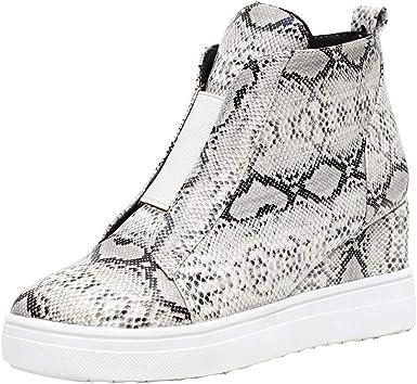 Womens Wedge Sneakers Fashion Snakeskin