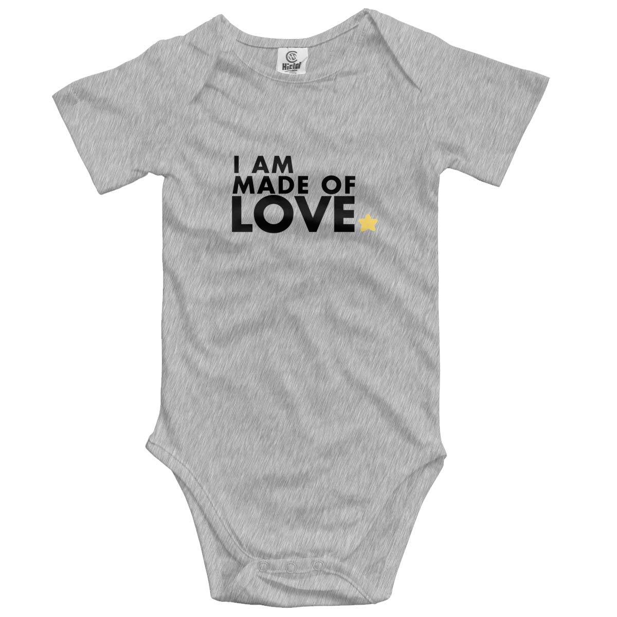 I Am Made of Love Baby Romper 0-18 Months Newborn Baby Girls Boys Layette Rompers Black