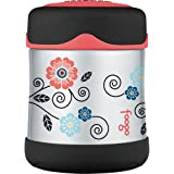 Thermos Foogo Vacuum Insulated Stainless Steel 10-Ounce Food Jar, Poppy Patch Pattern
