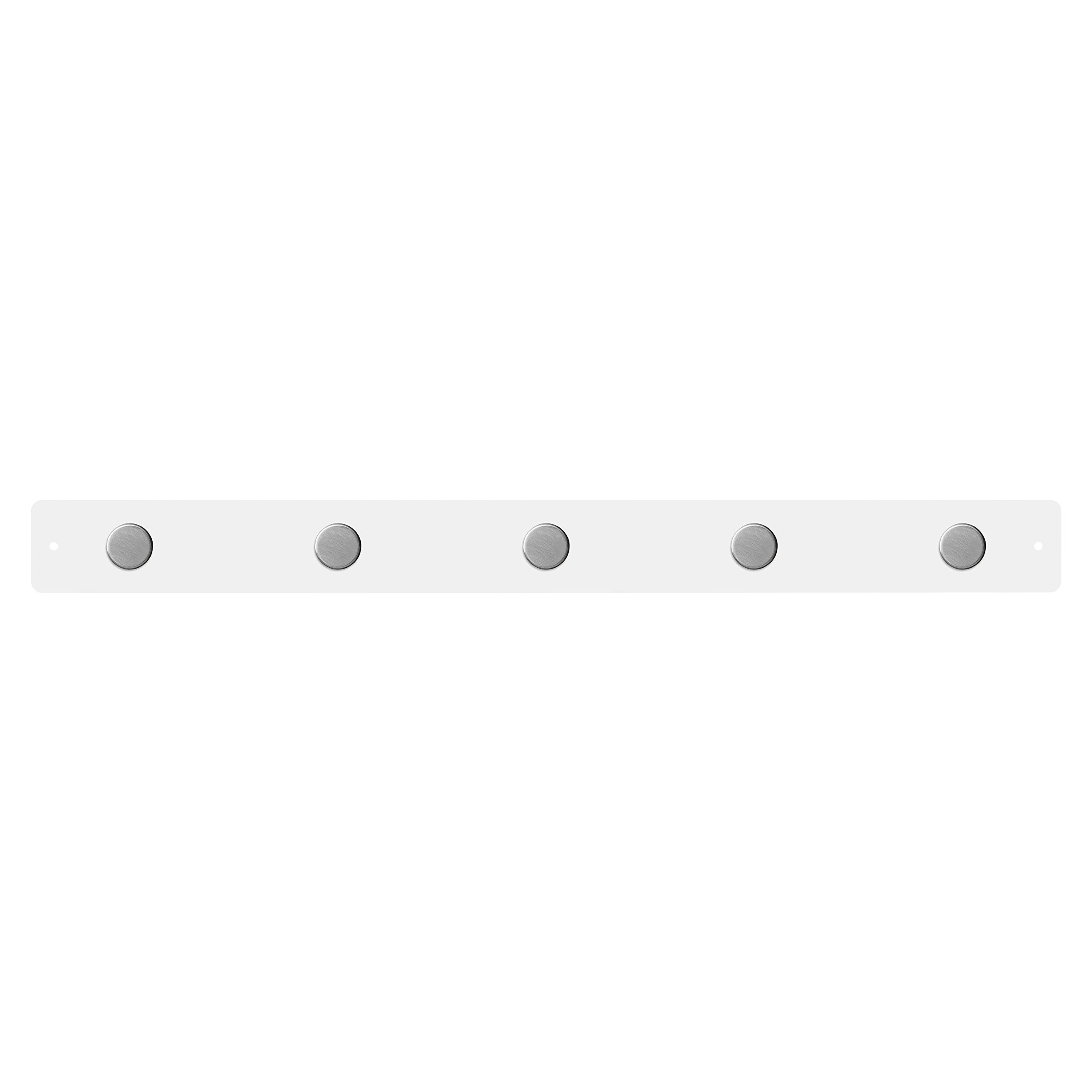 Three by Three Seattle Magnetic Strip Bulletin Board White with 5 Large Snap Magnets-(31141)