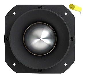 "VOYZ 600 Watt Super Tweeter 2KHz - 25KHz - 2"" Piezo Horn Heavy Duty Bullet Tweeter Titanium Diaphragm 4-8 ohms with Crossover Capacitor (VZ-47A)"