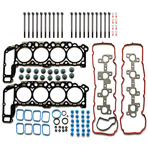 SCITOO Replacement for Head Gasket Set with Bolts Mitsubishi Grand Cherokee Jeep Commander Dodge Durango Dakota Chrysler 2004-2007 Engine Head Gaskets Sets Kit