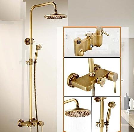 DDKD Antique Brass Shower Faucet Single Handle In-Wall Bathroom ...