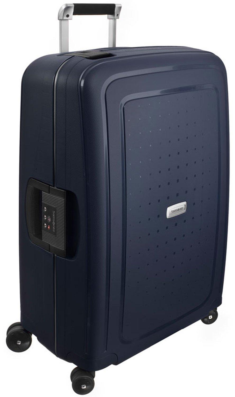 Samsonite Koffer Mittlerer Reisekoffer S'cure Dlx Spinner 69/25, 69 cm, 79 Liter, midnight blue, 50917-1549