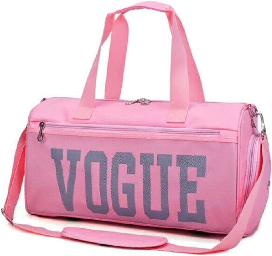 Wet and Dry Separation Yoga Bag Fitness Bag Size: 462325 Color : Pink Light Green Female Large Capacity Short Distance Travel Bag