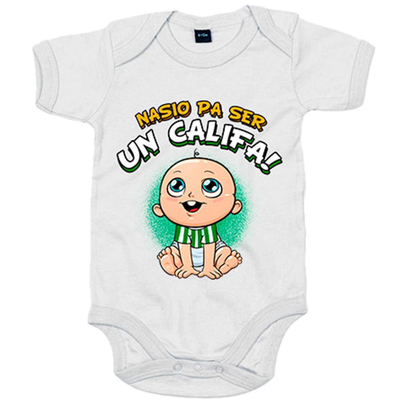 Body bebé nacido para ser Califa Córdoba fútbol - Blanco, 6-12 meses: Amazon.es: Bebé